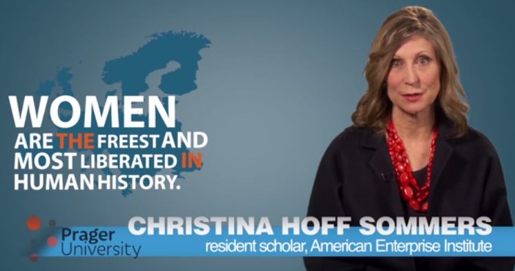 Christina Hoff Sommers (screencapture from YouTube)