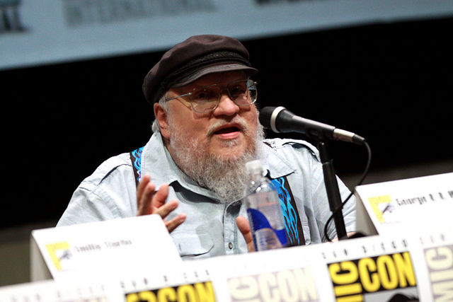 George R. R. Martin (by flickr user Gage Skidmore)